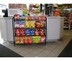 Undercounter display with chips and snacks