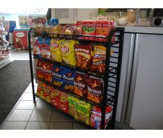 Undercounter display with chips and other snacks