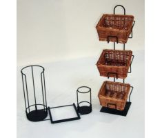 Lid and Stir Stick Holder next to counterpart basket display
