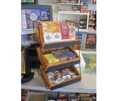 Counter Basket Display with smoking accessories