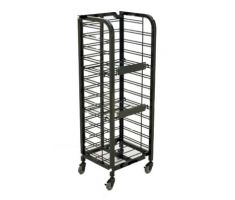 3 Shelf Steel Wire Mobile Display for Newspapers and Publications