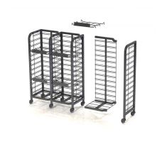Floor Display Add-on with wheels and shelving