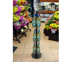 12-Bottle Wine Stand with white wine in floral department