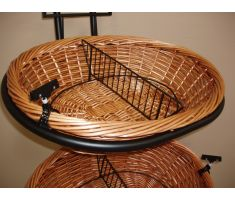 willow basket in which the mesh liner will be used