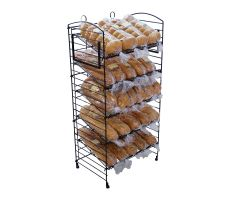 Wire Fold-Up Display with bagels