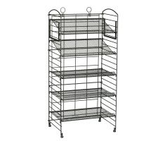 Wire fold up display with shelving - empty