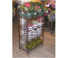4 shelf wire display being used in floral department