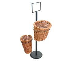 Double willow basket stand- empty