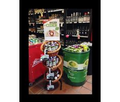 3 Tier 3 Round Willow Basket and Floor Stand Display k1430 3B