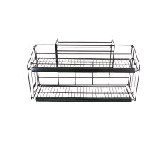 wire cooler mount with 2 shelves