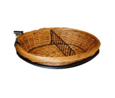 Oval Willow Basket with Wire Divider