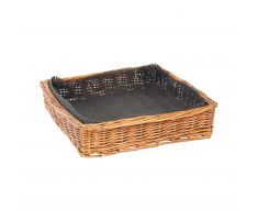 Square rubber mesh liner for basket