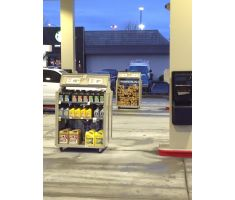 gas station using two outdoor mobile carts