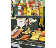 urn topper providing eye level display for customers in food aisle
