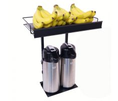 Coffee Urn Topper with coffee urns and bananas