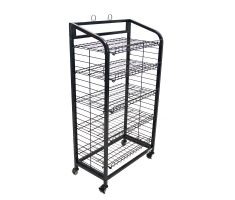 5 shelf wire floor display for bakery items