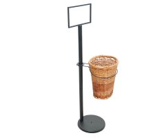 Single basket display stand - empty