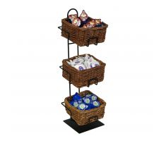 3 level counter basket display holding creamers
