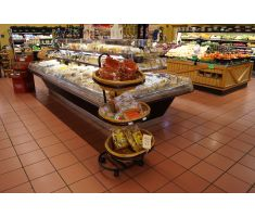 Willow basket displays fitting in with different aisles