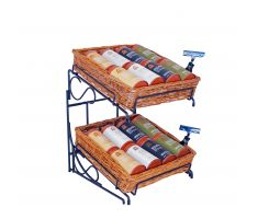 Willow Basket counter display with sign clips and coffee mix