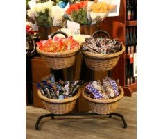 Willow Basket floor display with candy