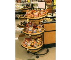 3 high willow basket display holding crackers