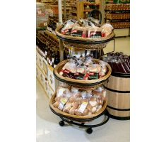 Willow basket display with variety of breads