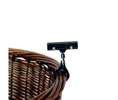 single sign clip on willow basket