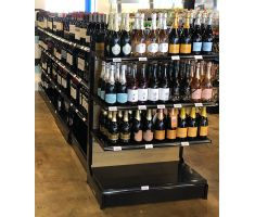 GX gondola system with wine bottles in store