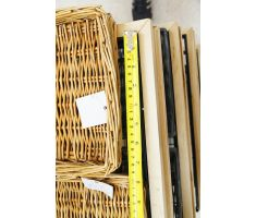 measurements of baskets for bakery display