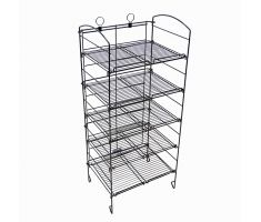 steel wire floor display with 5 shelves