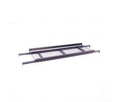 Adjustable shelf for spanning across the top of coolers