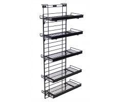 5 Shelve Magnetic Refrigerator Display with Wire Shelving