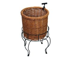 Single Basket Round Floor Display with Sign Clip