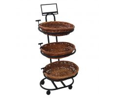 Empty stock photo of K2346 - Three Tier Oval Willow Basket Display
