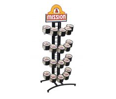 4-tier 5-ring stand for street taco size tortillas