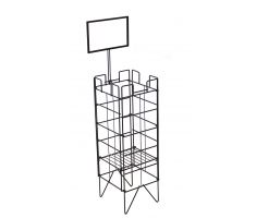 Wire dump bin for bread products