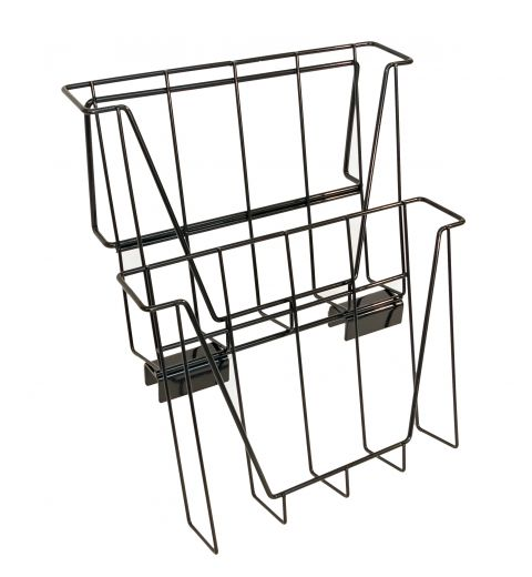 wire publication holder with 2 pockets