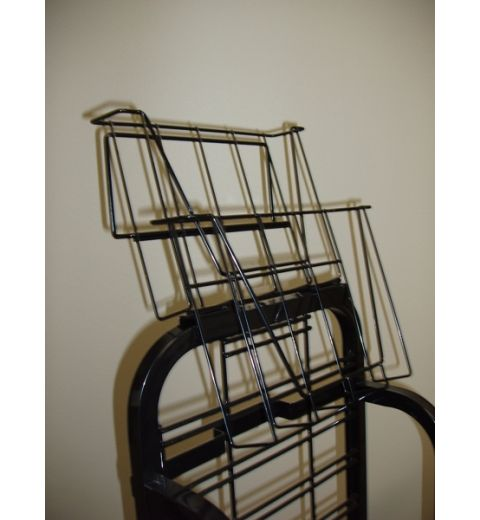 Wire publication holder on metal display
