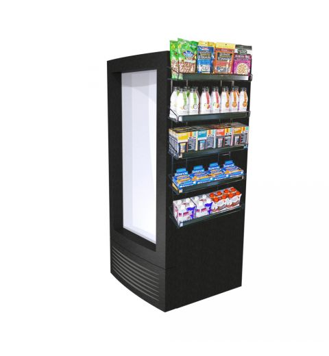 wire cooler display with vitamins and health products