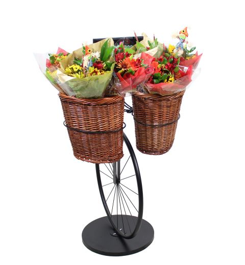 Bicycle Stand with floral