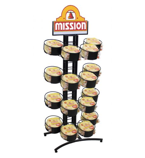 4-tier 4-ring stand for taco sized corn tortillas